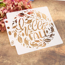 Leaves Letters DIY Layering Stencils Wall Painting Scrapbooking Coloring Embossing Crafts Album Decorative Paper Card Template cup coffee flower sticker painting stencils for diy scrapbooking stamps home decor paper card template decoration album crafts