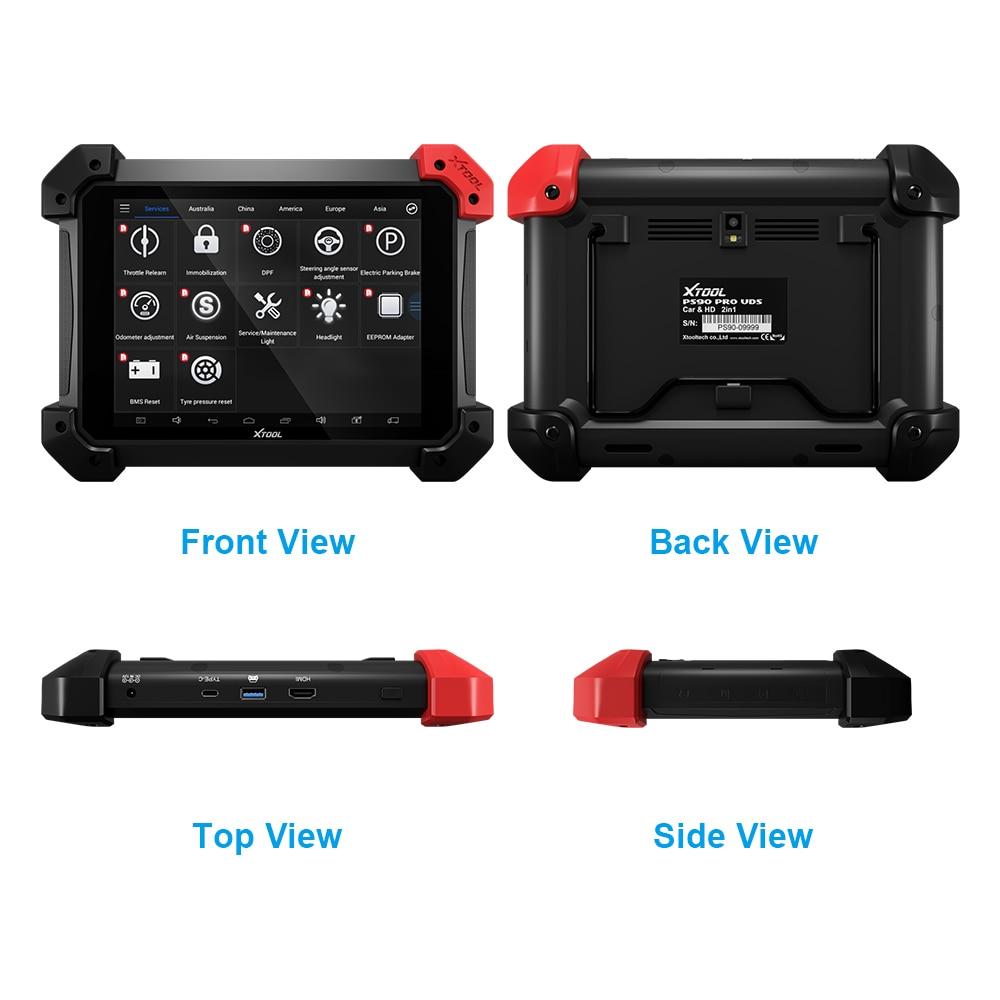 Xtool PS90 PRO Heavy Duty Diagnose Werkzeug Für Auto und Lkw OBD2 Schlüssel programmierer Kilometerzähler EINSTELLUNG Update Online Mit Wifi /BT