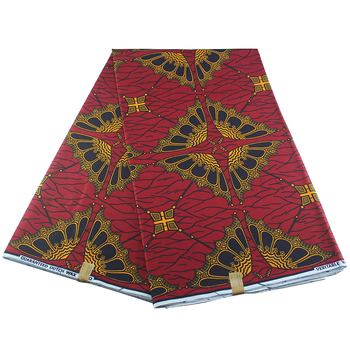 New Arrival Nigeria wosk tkanina we wzory typu african Wax 6 stoczni dużo afrykańska ankara druk woskowy materiał 6 stoczni lot 100 bawełna tanie i dobre opinie Ślub