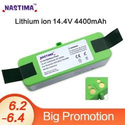 Nastima 4400mAh بطارية ليثيوم أيون متوافق مع اي روبوت رومبا R3 500 600 700 800 سلسلة 500 550 560 620 650 675 760 770 780 870