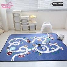 Maty do zabawy dla dzieci mata dla niemowlęcia aksamitna powolne powracanie do kształtu zagęszczony dywan antypoślizgowa podkładka do pełzania udekoruj salon dla dzieci