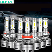 2PCS Car Headlight Bulbs LED H1 H3 H27 H7 H11 HB3 HB5 880 9005/HB3 9006/HB4 H4 12V 60W 6000K 6000LM/Pair Lamp Auto Bulb Light ev12 car headlight led h7 h4 h1 9005 hb3 9006 hb4 h11 60w 6000lm auto dob led lamp 12v ice blue car light plug and play