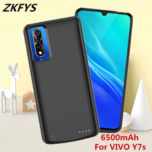 ZKFYS Battery Charge Case For VIVO Y7s Smart Charger Power 6500mAh Portable Backup Bank Cover
