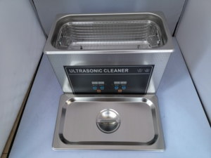 Máquina de limpieza por ultrasonidos de 4,5 l, boquilla de JP-030S, placa de circuito industrial, gafas, limpiador dental de laboratorio de joyería