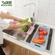 WBBOOMING Adjustable Sink Dish Drying Rack Kitchen Organizer Plastic Sink Drain Basket Vegetable Fruit Holder Storage Rack