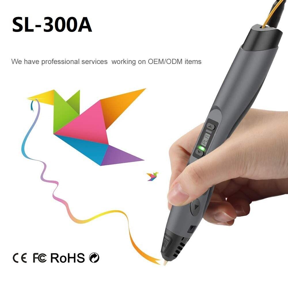 Enotepad SL-300A Three-D оригинальный принтер-ручка PLA/PCL нить 3d-ручка креативные подарки для рисования на день рождения-подарок для детей