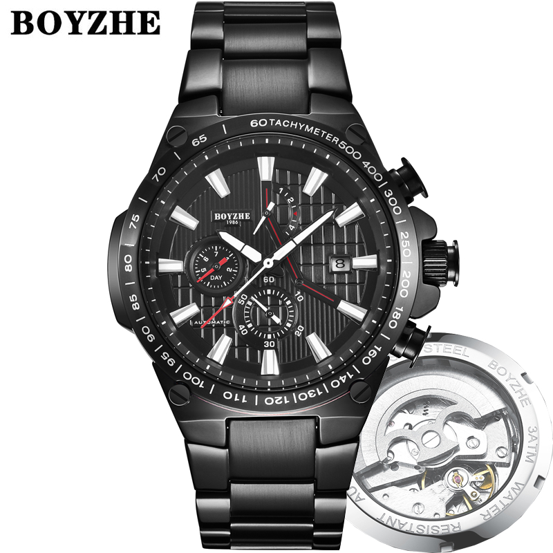 2020New Men Automatic Mechanical Watch Fashion Casual Luxury Stainless Steel Top Brand Sport Self-Wind Watches Relogio Masculino