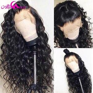 Image 4 - 브라질 깊은 곱슬 인간의 머리가 발 13x6 레이스 프런트 인간의 머리가 발 150% 밀도 흑인 여성을위한 pre 뽑은 레미 헤어 레이스가 발