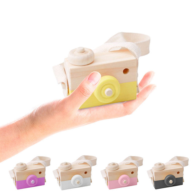 Home Decor Nordic Style Wooden Camera Figurines Fashion Home Photography Prop Decor Educational Decoration Toy for Children 1