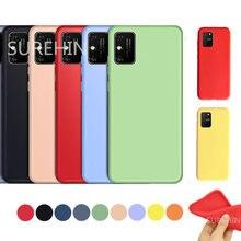 Surehin capa de silicone para vivo y11s capa preta roxo vermelho azul rosa verde amarelo protetor coque capa macia para vivo y11s caso