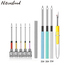 Metal Embroidery Punch Needle Set with Seam Ripper Handmade Needlepoint Kits