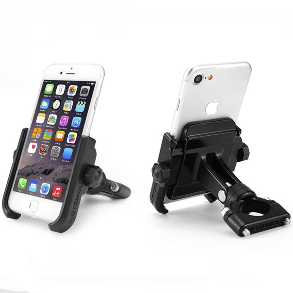 Bicycle Motor Bike Phone Holder Stand Mount Universal Aluminium Alloy Support Station Holders For Motorcycle Cellphone Brackets