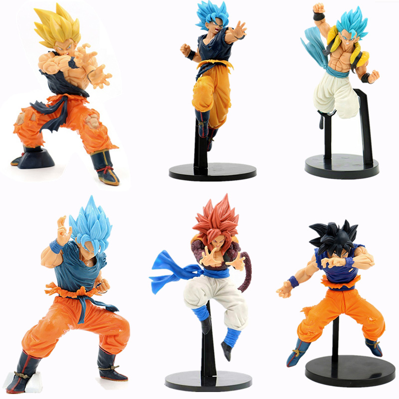 Dragon Ball Action Figure Toys Statue Son Goku Gogeta Vegeta Super Saiya Goku Ultimate Warrior Anime Collection Doll Model Toys
