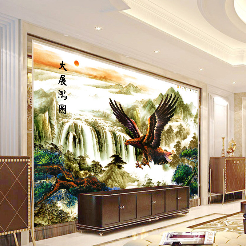 Great Success Eagle Chinese-style Great Wall Large Mural Wallpaper Living Room Background Nonwovens Wallpaper