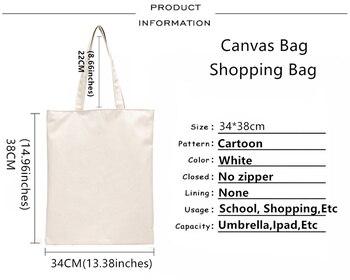 The Queen Band Freddie Mercury Print Reusable Shopping Bag Women Canvas Tote Bags Printing Eco Bag Cartoon Shopper Shoulder Bags 6