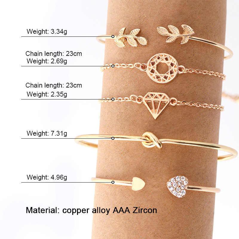 VCORM nowy romantyczny regulowany kryształ miłośników złoty Charm bransoletka dla kobiet mężczyzn 2019 Hot moda biżuteria Party prezent ślubny