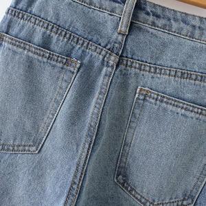 Image 5 - GOPLUS Women Jeans Boyfriends Large Size Ripped Jeans with High Waist Streetwear Denim Straight Pants Pantalon Jean Femme C6939