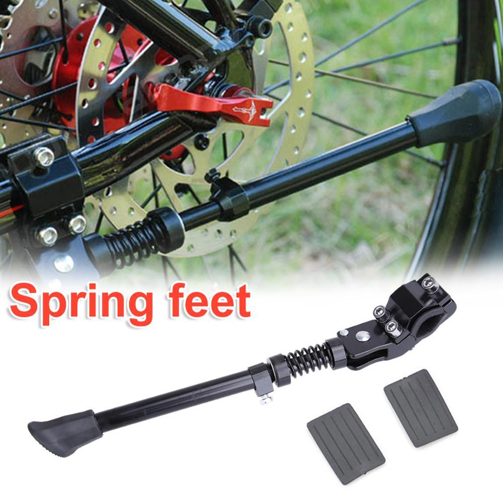 חדש מתכוונן אופניים Kickstand הרי אופני MTB אלומיניום צד אחורי בעיטת Stand מוצק ואמין אופניים אבזרים