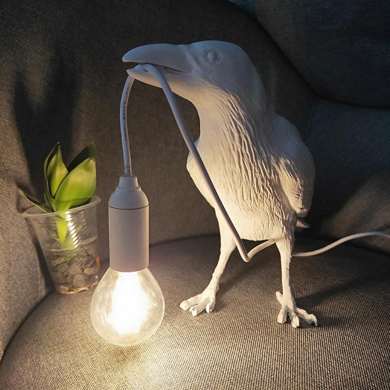 Nordic pássaro resina lâmpada de parede sala
