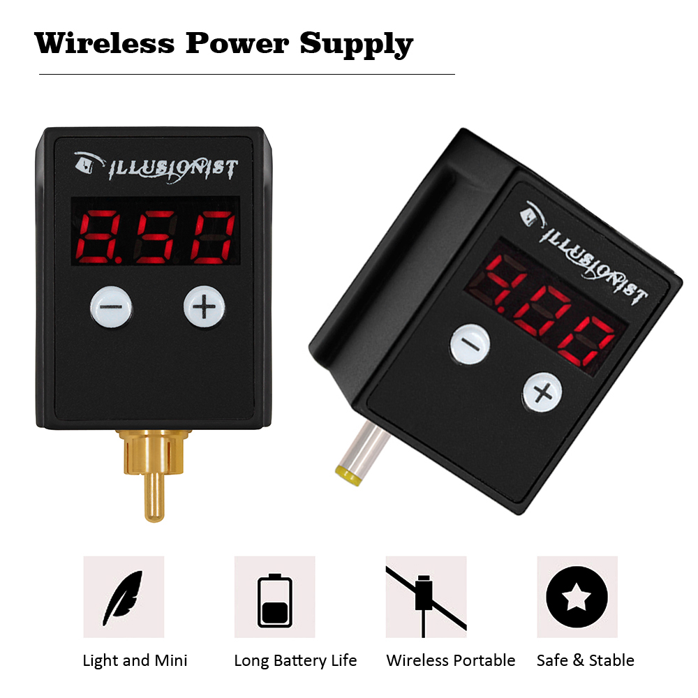 Wireless Tattoo Power Supply Mini Power Device RCA/DC Tattoo Machine Rechargable Battery For Rotary Machine Pen Tattoo Supply