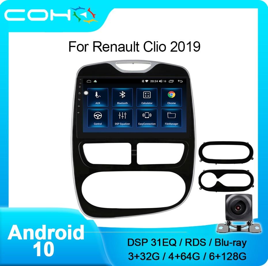 Автомагнитола для Renault Clio 4 ZOE 2019 Android 10,0 DSP, мультимедийный видеоплеер, автостерео, GPS, dvd