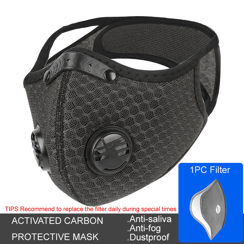 Activated Carbon Face Mask Breathing Breathable And Replaceable Filter Element Dustproof And Anti-fog Adult Protection Dust Mask