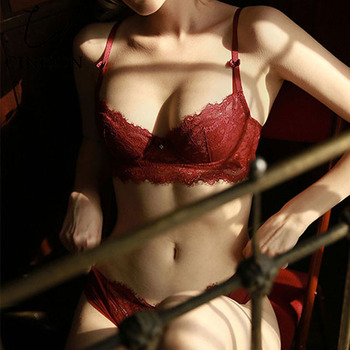 CINOON New Top underwear Set Lace Sexy Push-up Bra And Panty Sets Embroidery Lace Lingerie Sets Plus Size Bra Women Lingerie cinoon new women s underwear set push up bra and panty sets comfortable brassiere gather sexy bra embroidery lace lingerie set