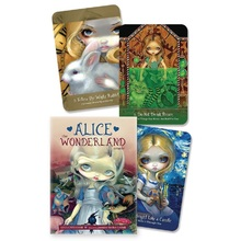 45pcs Alice The Wonderland Oracle Cards Deck Mysterious Guidance Divination Fate Tarot Cards Board Game For Family Kids Game