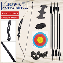 30-50 lbs Recurve Bow Bow And Arrow Archery Bow Traditional Bow Outdoor Hunting Bow Professional Long Bow For Shooting Horse Bow стоимость