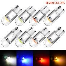 10 pces canbus w5w led t10 194 168 escudo de vidro alto brilhante cob lâmpadas no carro 12v dome luz w5w lâmpadas led em dashbo