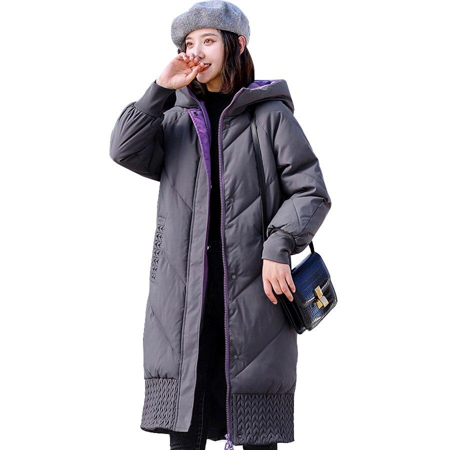 Jacket women winter cotton padded thicken warm Sustans hooded zipper long outwear winter coat female parka plus size
