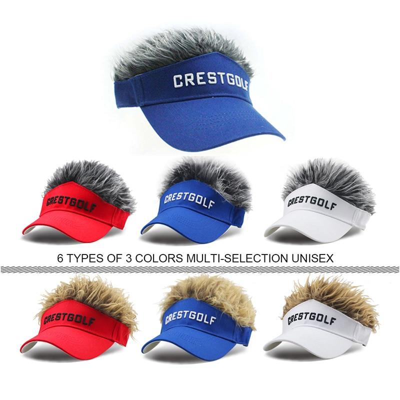CRESTGOLF Регулируемая фальшивая Кепка для гольфа мужская шапка парик/волосы бейсболка для гольфа доступно несколько цветов