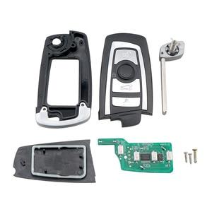 Image 2 - BHKEY 4 כפתורים Flip Floding חכם רכב מפתח עבור BMW 1 3 5 6 סדרת X5 רכב מרחוק מפתח Fob 315mhz 433mhz 868mhz CAS2 מערכת