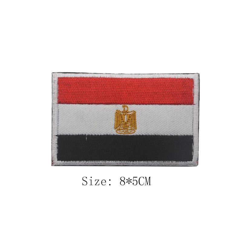3D nakış afrika ülke güney afrika mısır Kenya kongo nijerya Angola fas bayrağı rozetli yama Denim ceket aksesuarları