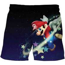 3d dos desenhos animados mario crianças verão nadar shorts do bebê meninos meninas roupa de banho da criança dos miúdos moda imprimir praia calças curtas meninos