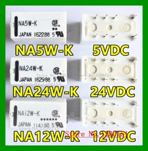 3 pçs/lote NA24W-K 24VDC NA12W-K 12VDC NA5W-K 5VDC relé DIP8 A5W-K relé DIP10
