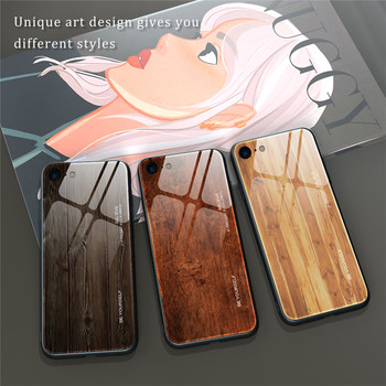 Luxury Marble Tempered Glass phone Case For iPhone 11 Pro Max XS Max X XR Wood grain Glass Case For iPhone SE 2020 6 6S 7 8 Plus 2