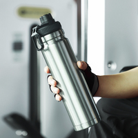 oneisall  Large Capacity Stainless Steel Thermos Portable Vacuum Flask Insulated Tumbler with Rope Thermo Bottle 800ml|Water Bottles|   -
