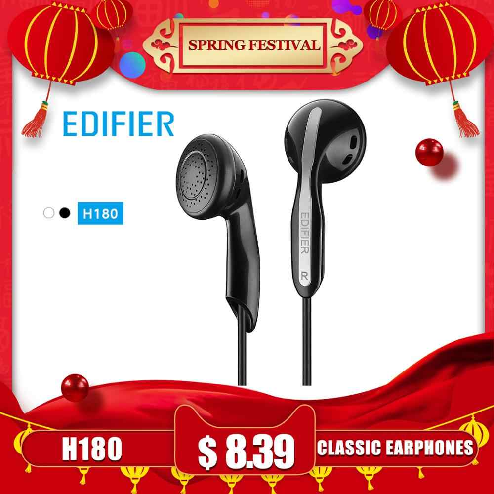 EDIFIER H180 classic earphone Comfortable fit Affordable high-quality Connect to a variety of devices black & white available