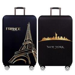 New York Paris Verdicken Gepäck Schutzhülle 18-32 Zoll Trolley Gepäck Reisetasche Abdeckungen Elastische Schutz Koffer Fall 271