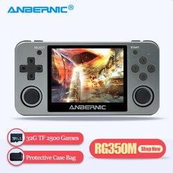 ANBERNIC-REPRODUCTOR DE juegos Retro RG350M RG350 IPS 64Bit 32G TF 2500 Juegos RG 350 portátil de mano salida HDMI de TV PS1 consola de juegos