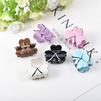 1PC New Acrylic Candy Color Girls Hair Claws lovely Small Princess Grips Gradient Accessories HeadWear