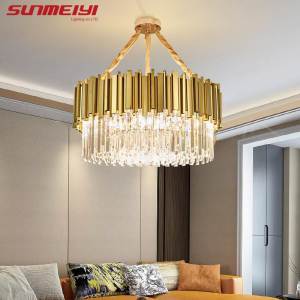 Image 5 - Luxury LED Crystal Chandeliers Lighting For Kitchen Living room Loft Hanging Chain Nordic Gold Chandelier Bedroom Lamp люстры