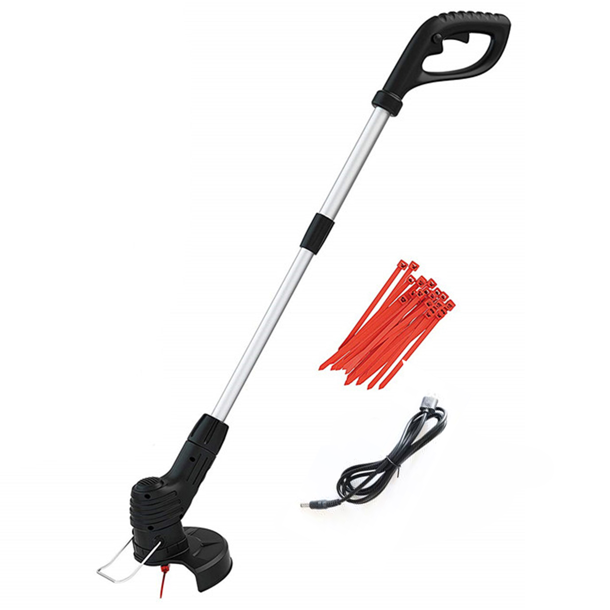 Electric Lawn Mower 2000mAh Li-ion Cordless Grass Trimmer Auto Release String Cutter Pruning Garden Tools