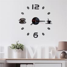 Digital Wall Clock Sticker Modern Design