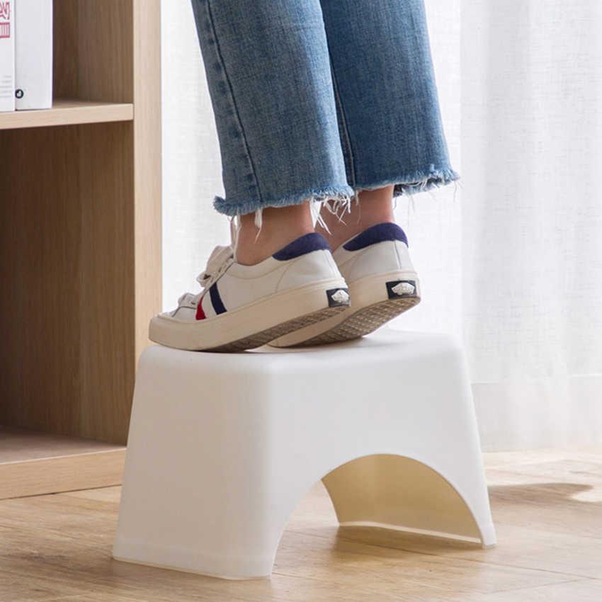 พลาสติกสตูลแบบพกพาน้ำหนักเบาเด็กเด็ก Stool เก้าอี้ขนาดเล็กลื่นสั้นสตูลสำหรับห้องครัวห้องน้ำห้องนอน