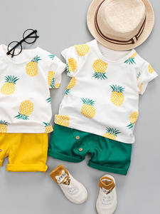 Summer T-Shirt Shorts Children's Clothing Baby-Boys-Girls Fashion Printed Fruit Cotton