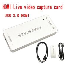 USB3.0 HDMI видео аудио карта захвата OBS прямая трансляция 1080PAV компьютерное Видео Аудио