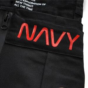 Image 5 - Hommes Hip Hop court Joggers Streetwear 2019 Harajuku Cargo Shorts fermeture éclair poches été noir tatique militaire Baggy Short Hipster