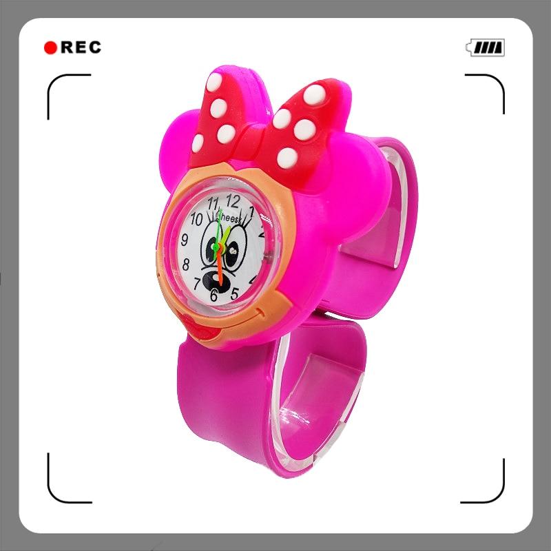 New 3D Cartoon Lovely Mickey Watch Children Girls Boys Students Kids Popular Quartz Wrist Watches Minnie Mouse Regarder Clock